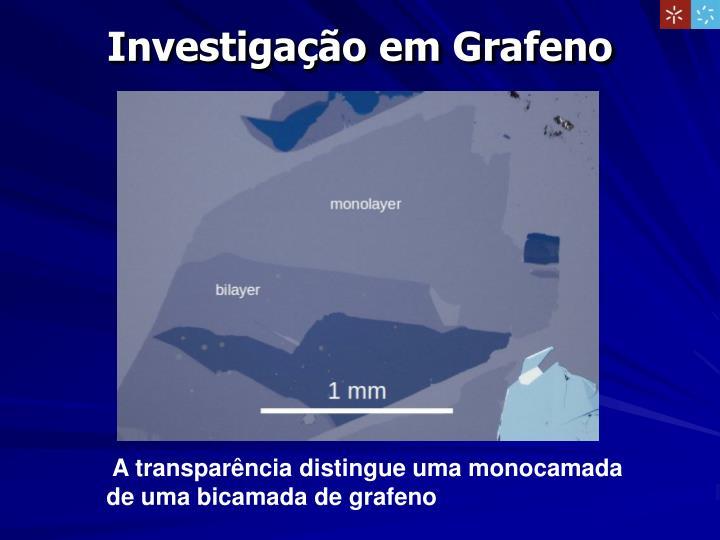 Investigação em Grafeno