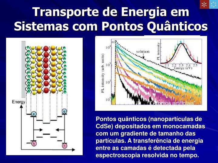 Transporte de Energia em Sistemas com Pontos Quânticos
