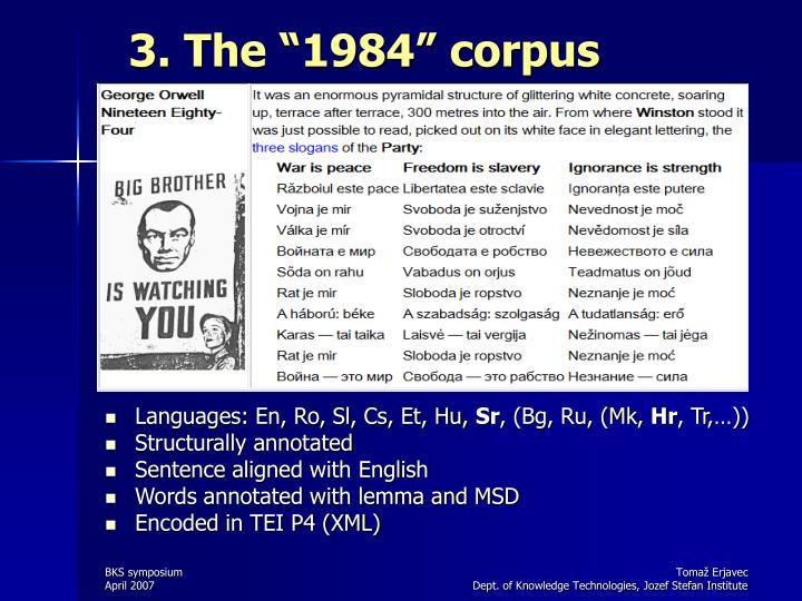"""3. The """"1984"""" corpus"""
