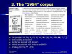 3 the 1984 corpus