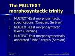 the multext morphosyntactic trinity