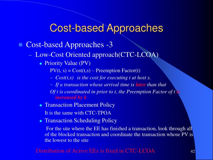 Cost-based Approaches