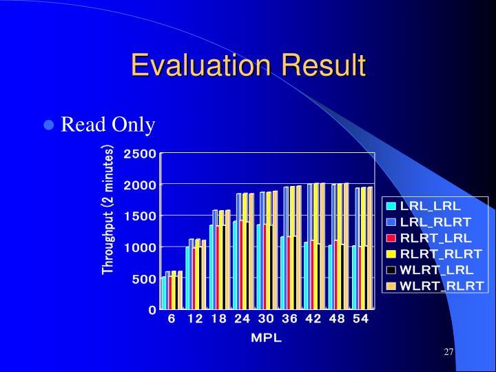 Evaluation Result