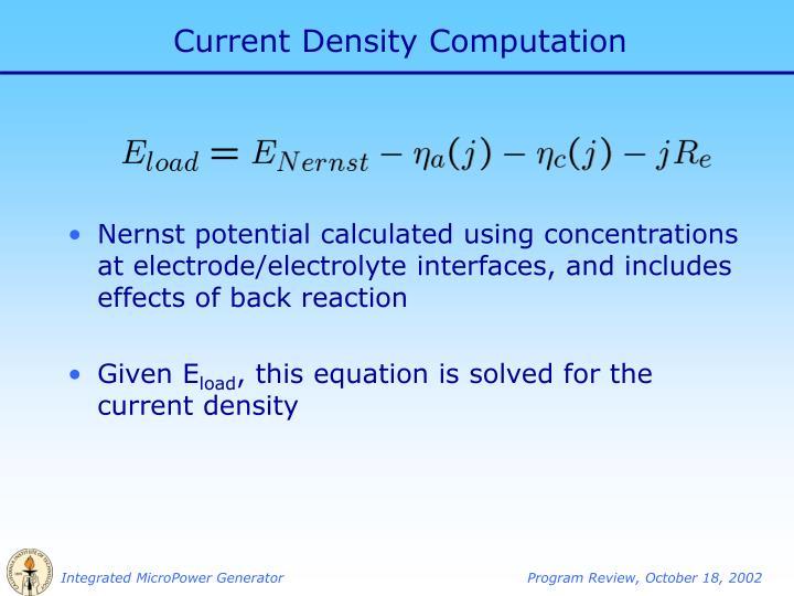 Current Density Computation