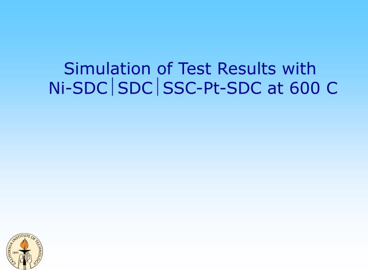 Simulation of Test Results with