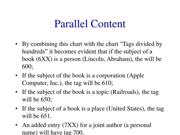 Parallel Content