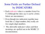some fields are further defined by indicators1