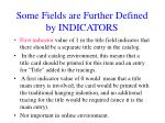 some fields are further defined by indicators3