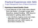 practical experiences with 9ias project management view of maine s experience3