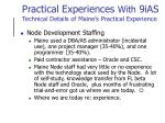 practical experiences with 9ias technical details of maine s practical experience7