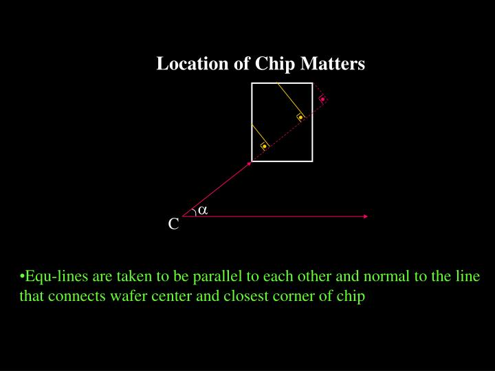 Location of Chip Matters