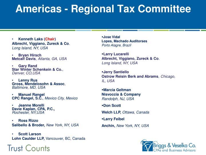 Americas - Regional Tax Committee