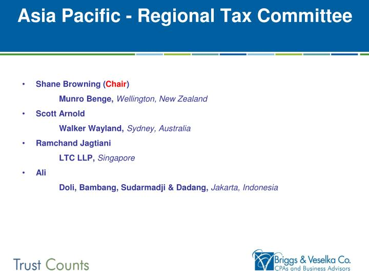 Asia Pacific - Regional Tax Committee