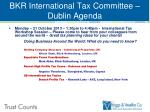 bkr international tax committee dublin agenda