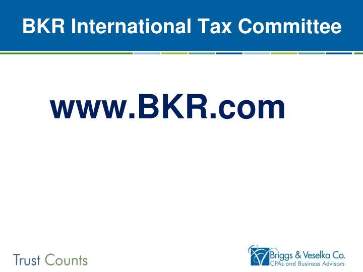 BKR International Tax Committee