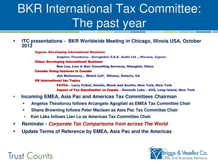BKR International Tax Committee: