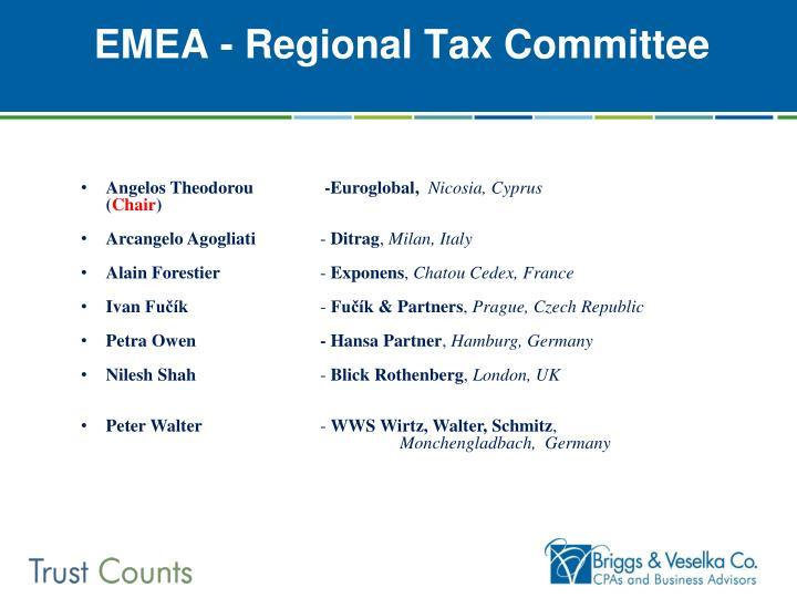 EMEA - Regional Tax Committee