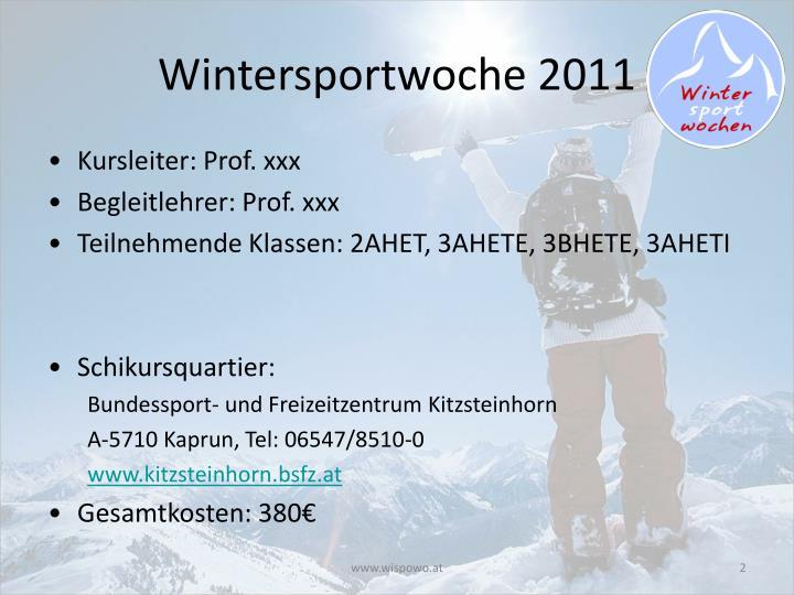 Wintersportwoche 2011