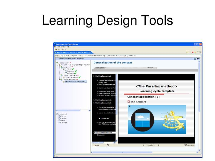 Learning Design Tools