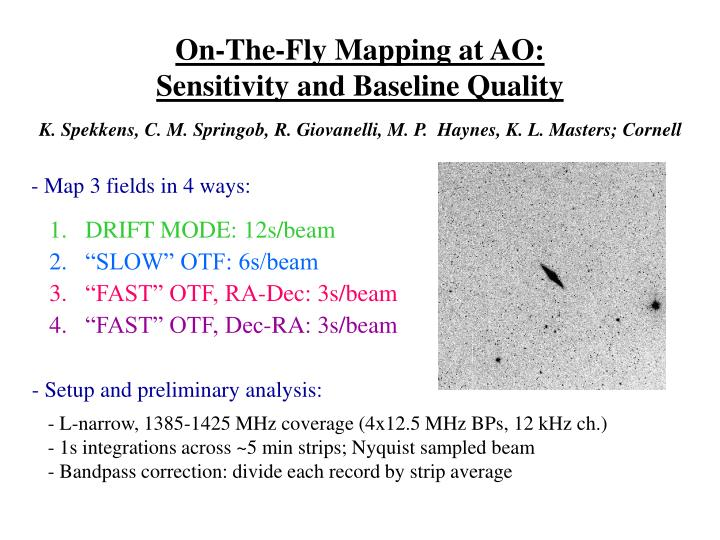 On-The-Fly Mapping at AO: