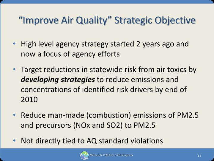 """Improve Air Quality"" Strategic Objective"