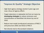 improve air quality strategic objective