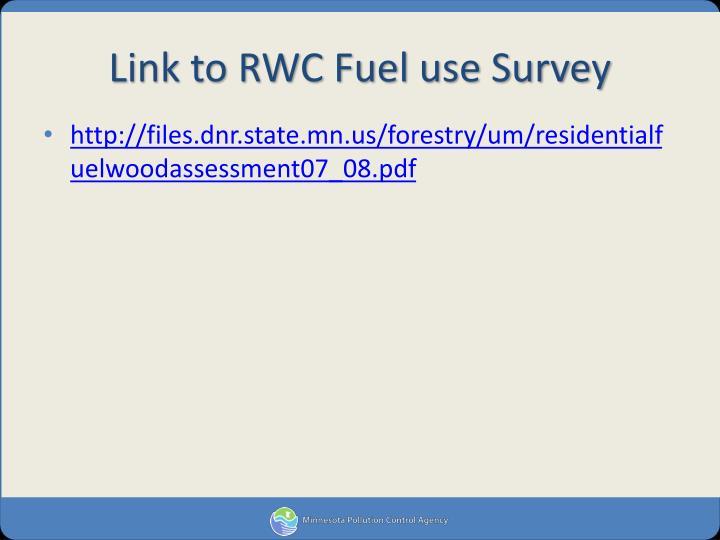 Link to RWC Fuel use Survey