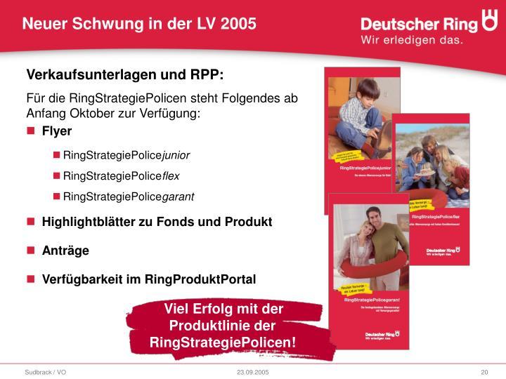 Viel Erfolg mit der Produktlinie der RingStrategiePolicen!