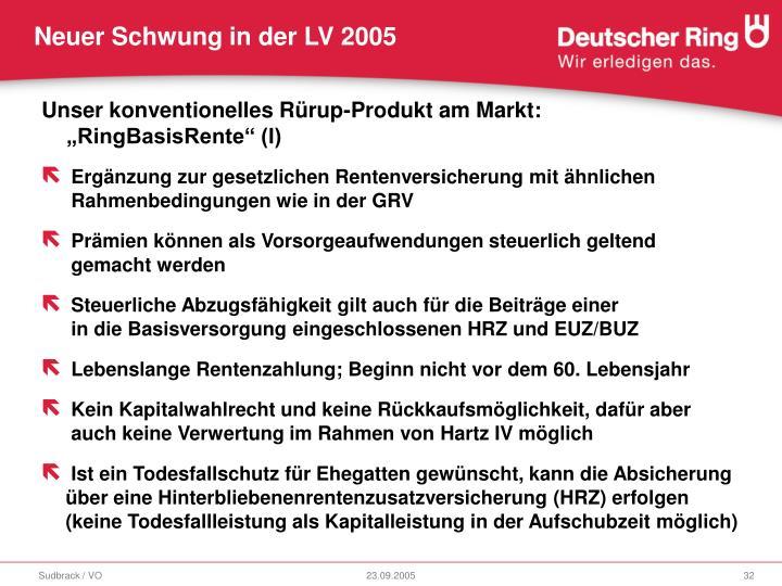 """Unser konventionelles Rürup-Produkt am Markt: """"RingBasisRente"""" (I)"""