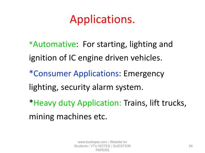 Applications.