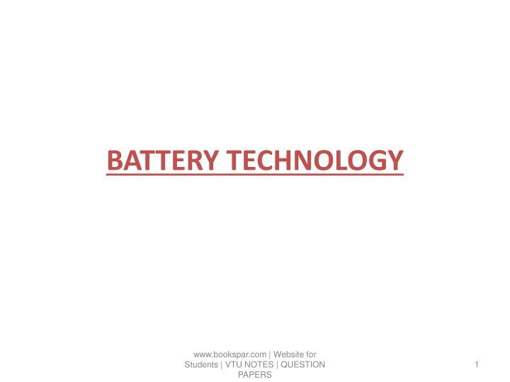 battery technology