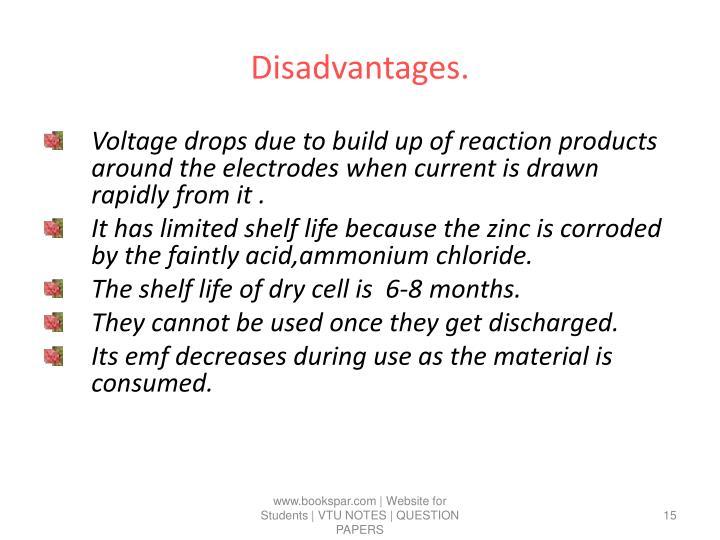 Disadvantages.