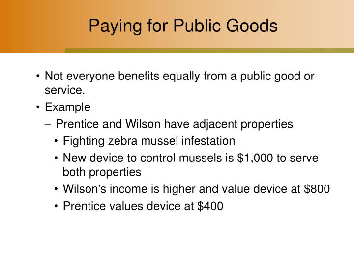 Paying for Public Goods