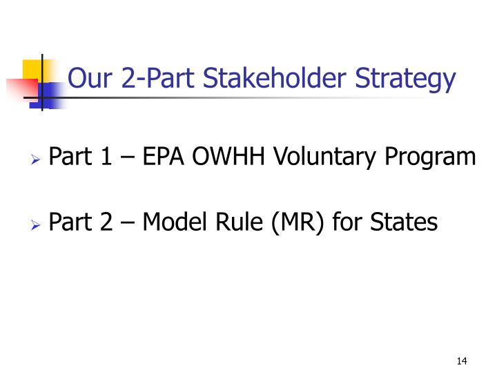 Our 2-Part Stakeholder Strategy