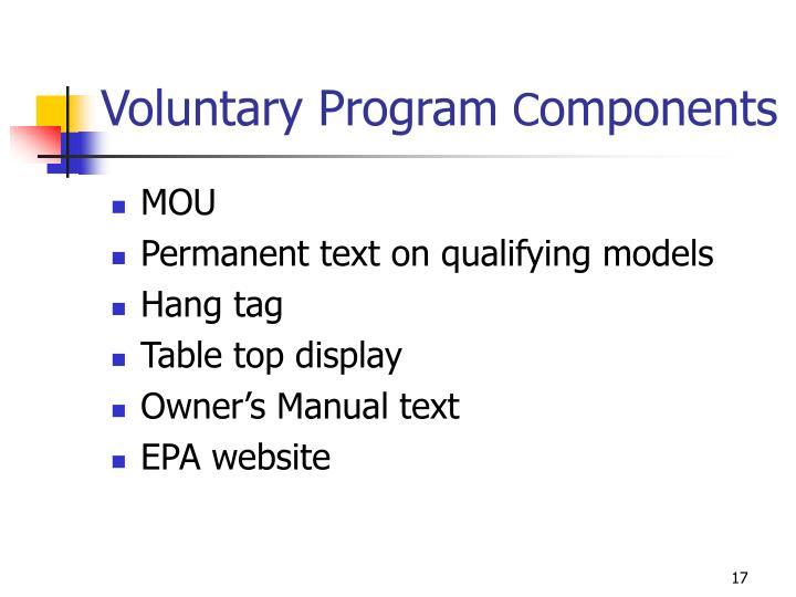 Voluntary Program
