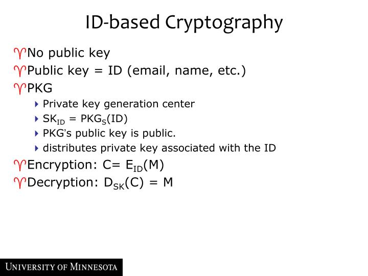 ID-based Cryptography