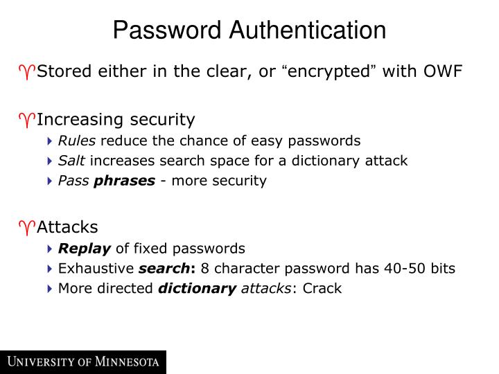 Password Authentication