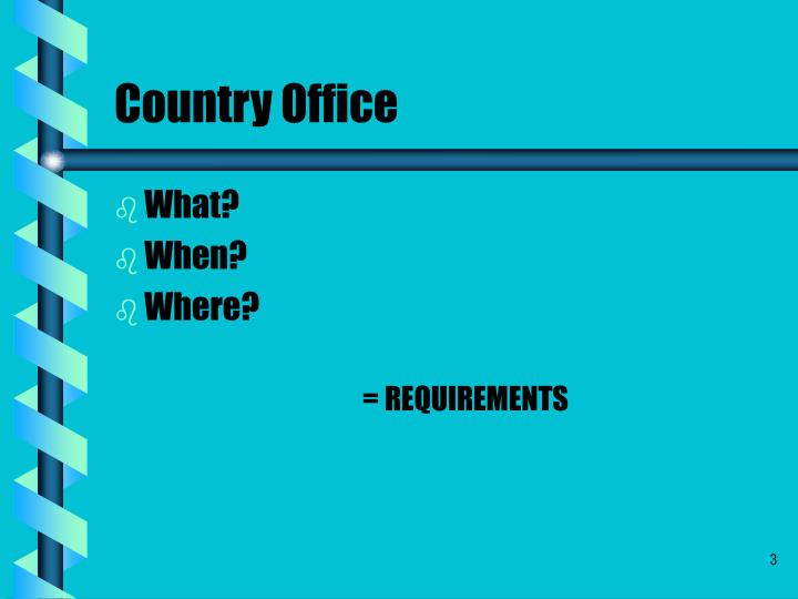 Country office