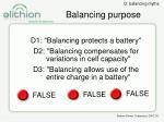 balancing purpose