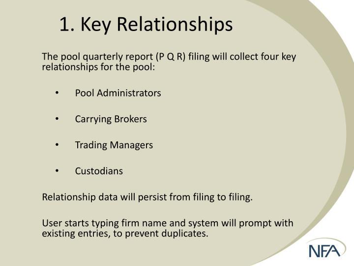 1. Key Relationships