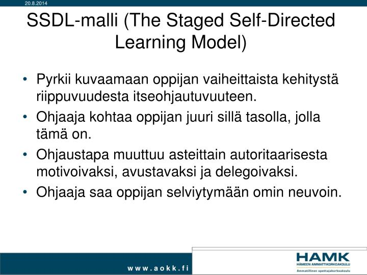 SSDL-malli (The Staged Self-Directed Learning Model)