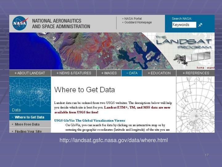 http://landsat.gsfc.nasa.gov/data/where.html