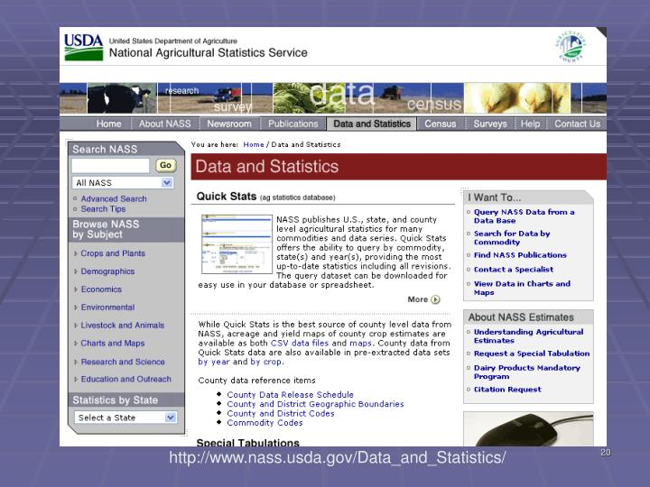 http://www.nass.usda.gov/Data_and_Statistics/
