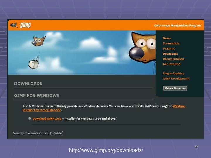 http://www.gimp.org/downloads/