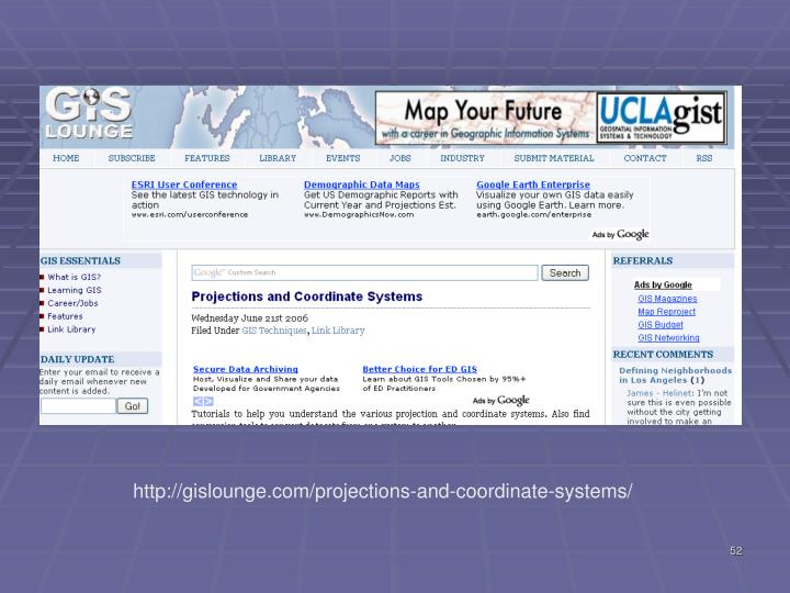 http://gislounge.com/projections-and-coordinate-systems/