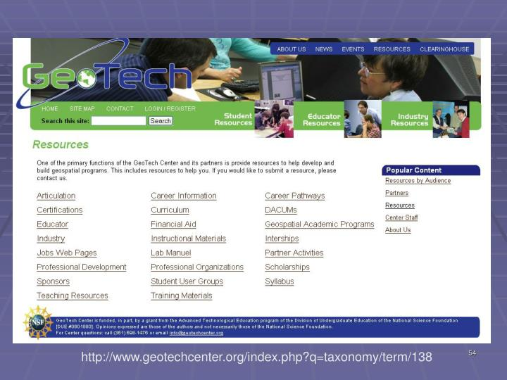 http://www.geotechcenter.org/index.php?q=taxonomy/term/138