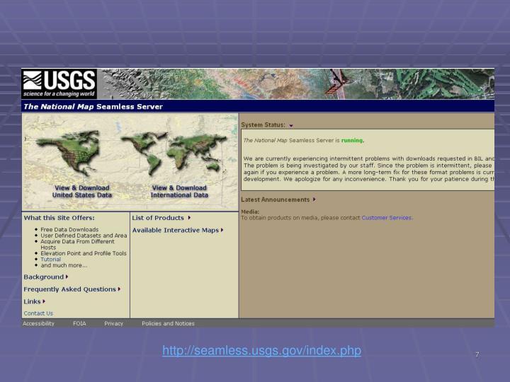 http://seamless.usgs.gov/index.php