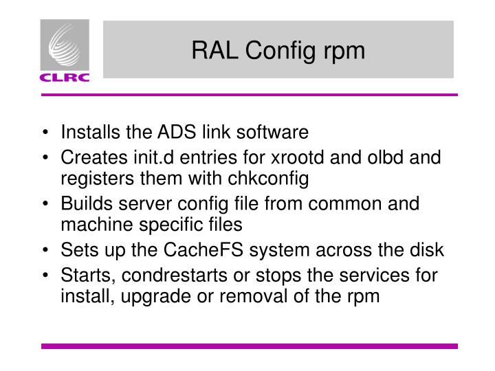 RAL Config rpm
