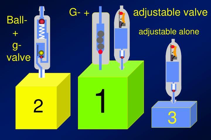 G- +               adjustable valve
