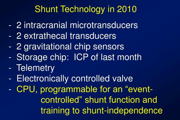 Shunt Technology in 2010